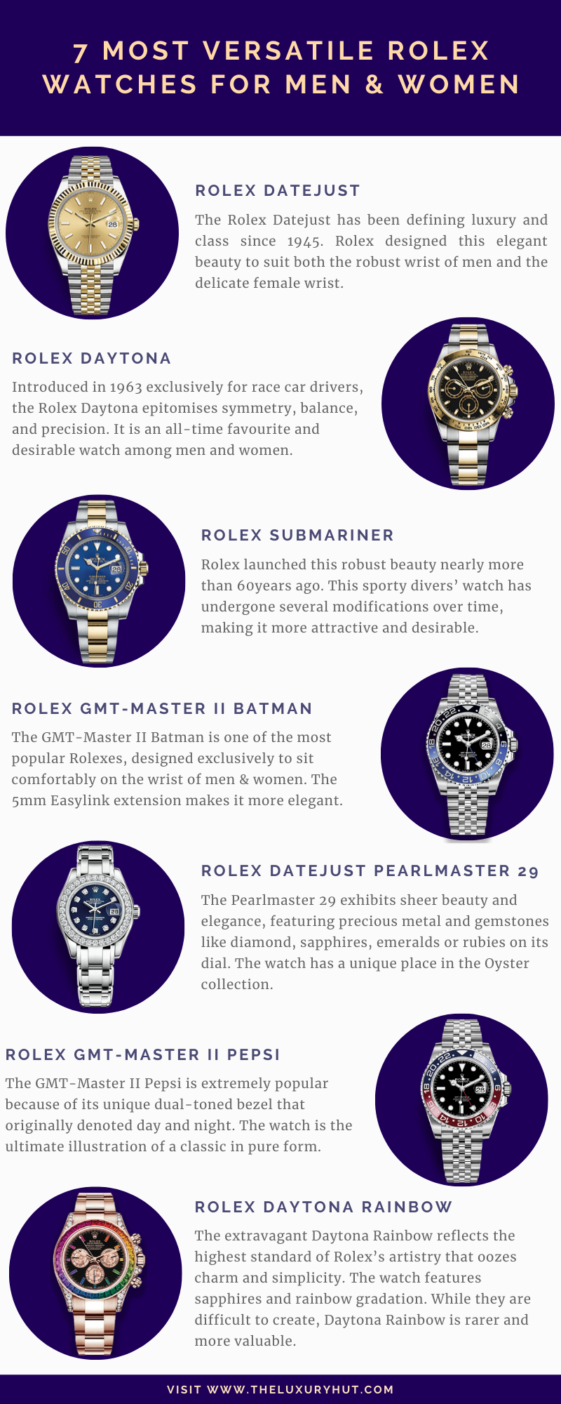 7 most versatile rolex watches for men and women