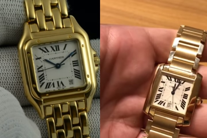 cartier tank francaise vs panthere