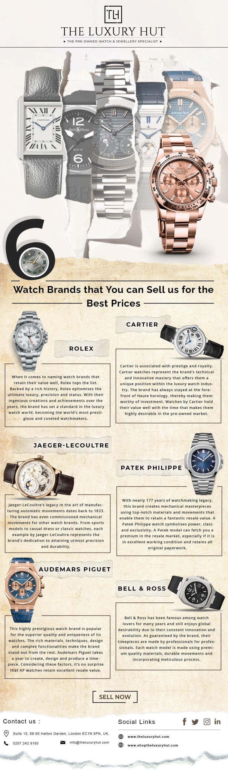 top 6 watches to sell the luxury hut